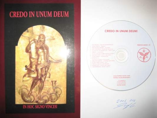 V/A Sampler - Credo In Unum Deum CD+Book (Von Thronstahl+signed)