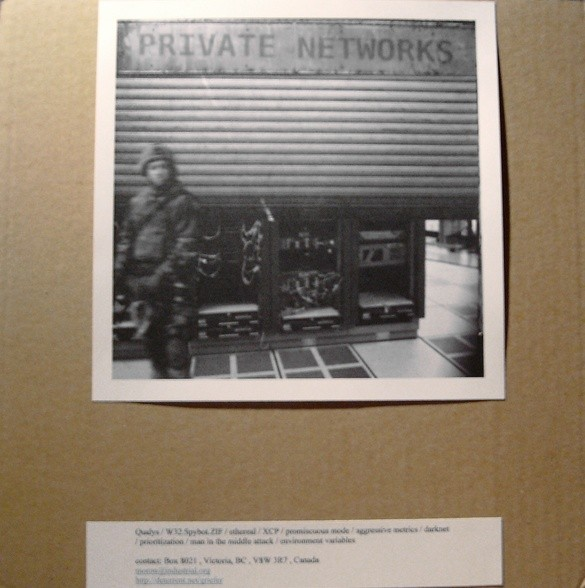 Griefer - Private Networks CD (Lim100)