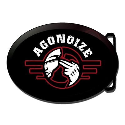 AGONOIZE - Logo Buckle Belt Gürtelschnalle 2012 RAR