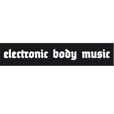 EBM electronic body music - Logo sticker