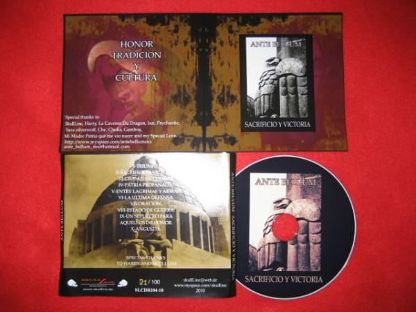 Ante Bellum - Sacrificio y Victoria CD (Lim100)