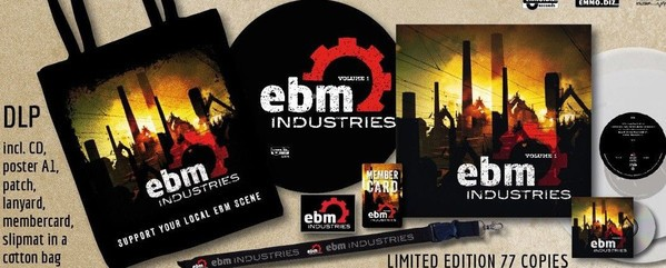 EBM Industries Vol.1 BAG SET: 2LP CLEAR VINYL +CD 2017 LTD.77