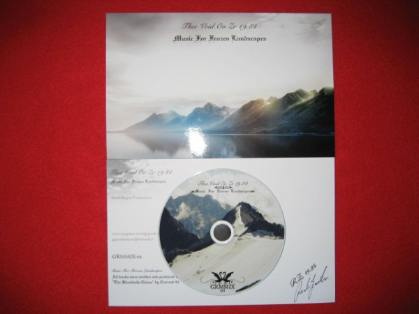 Thee Void Ov ZR19.84 - Music For Frozen Landscapes CDr (+signed)