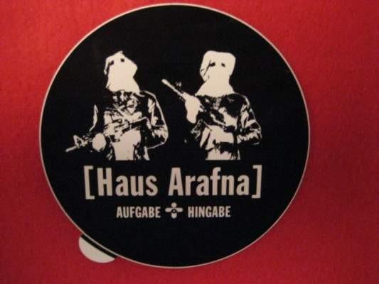 Haus Arafna - Aufgabe + Hingabe (STICKER)