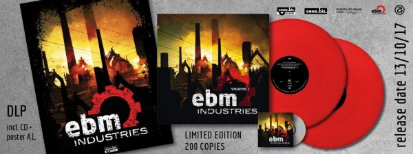 EBM Industries Vol.1 2LP RED VINYL+CD 2017 LTD.300