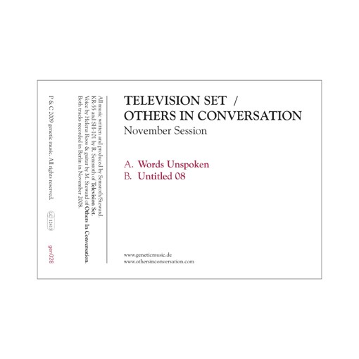 Television Set / Others In Conversation - November Session 7