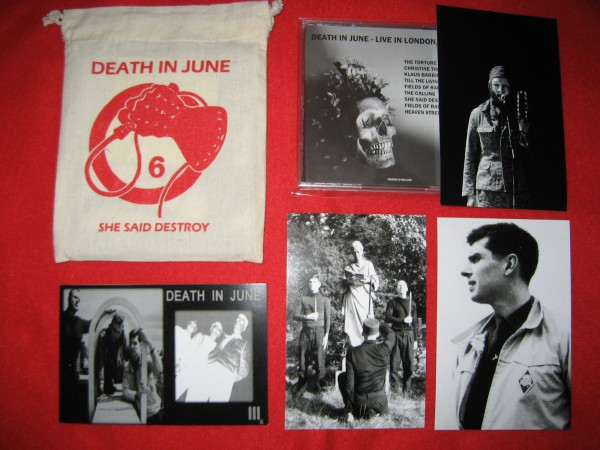 DEATH IN JUNE - She Said Destroy CD BAG SET Lim99 2015