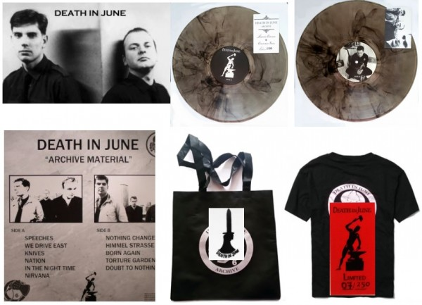 DEATH IN JUNE - Archive Material LP BAG SET (Lim100)