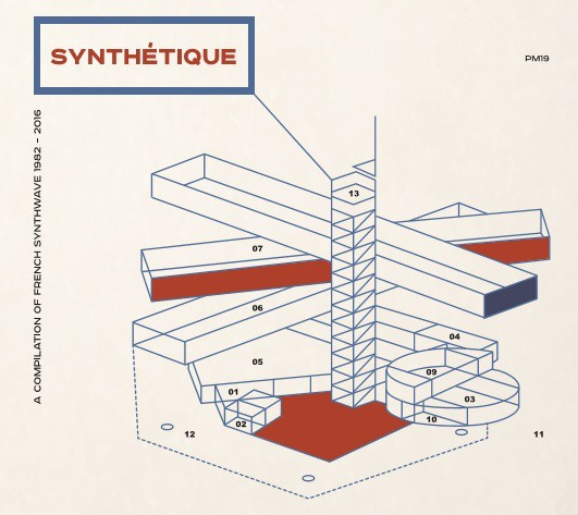 V/A - SYNTHETIQUE French Synthwave 1982-2016 CD (Lim500) 2017