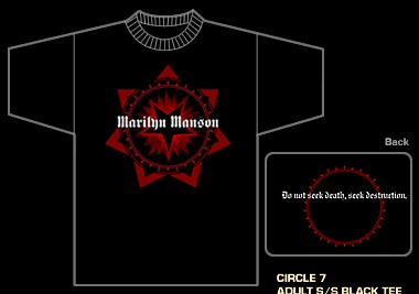 MARILYN MANSON - Circle Seven Shirt 2013