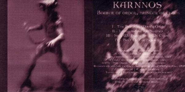Karnnos (Wolfskin) - Bearer Of Order, Bringer Of Chaos 7 (Lim100