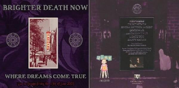 Brighter Death Now - Where Dreams Come True CD (2009)