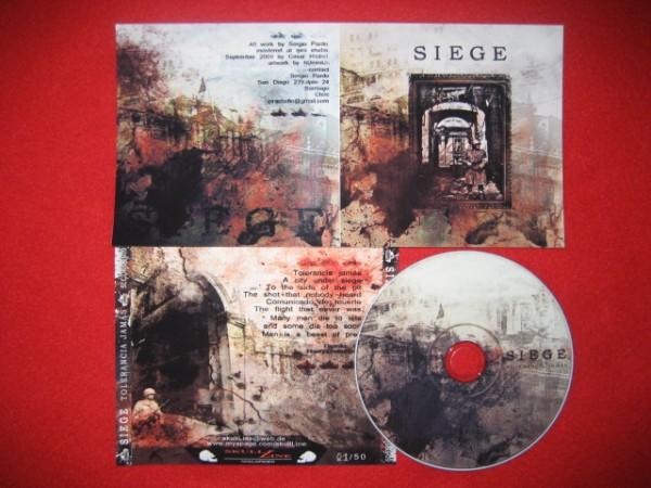SIEGE - Tolerancia Jamas CD (Lim50)