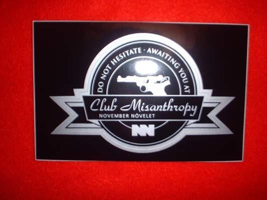 November Növelet - Club Misanthropy (sticker)