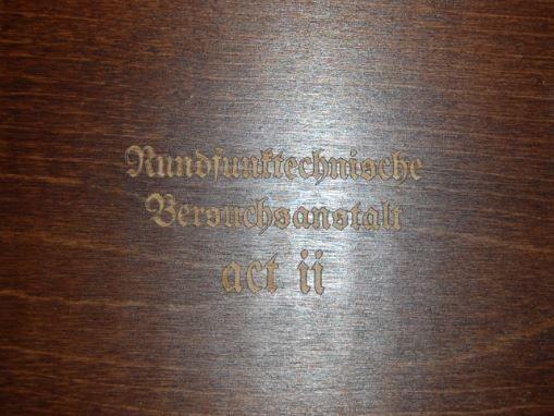 COLD FUSION - Rundfunktechnische Versuchsanstalt act II CD Wooden Box (Lim100)