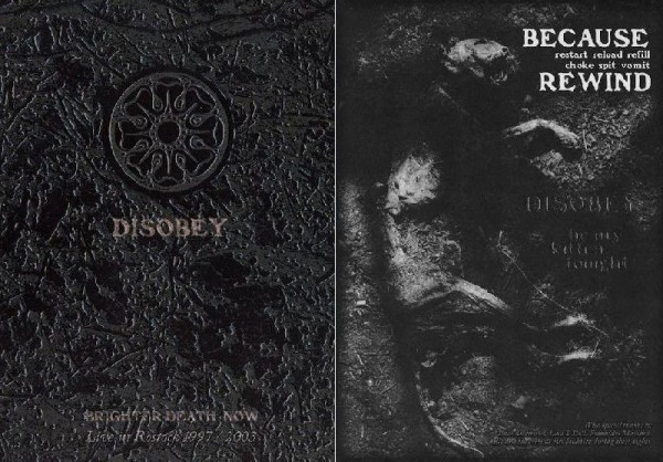 Brighter Death Now - Disobey SET (CD+DVD)