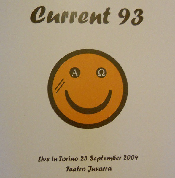 CURRENT 93 - Live In Torino, Teatro Juvarra LP 1 (Lim150) 2014 RARE !