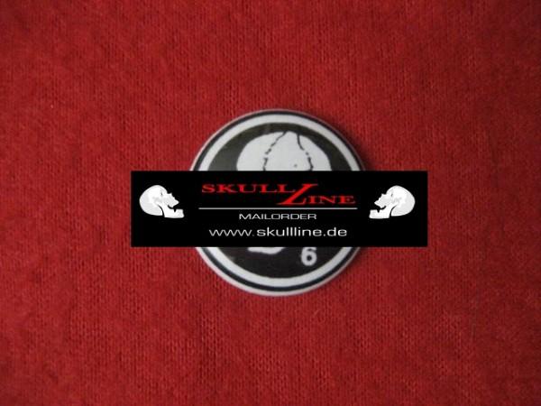 Death in June - Skull (white) PIN1