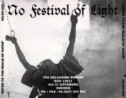 No Festival Of Light – Enter To The Realm Of Satan CD