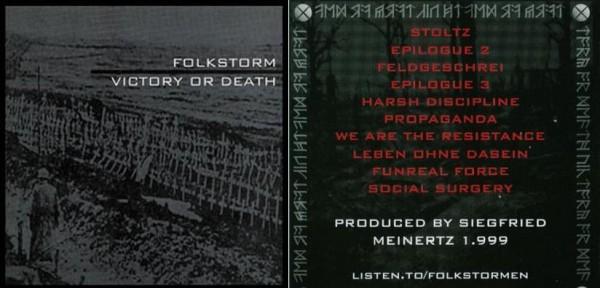 Folkstorm / Toroidh / Nordvargr - Victory Or Death CD (1st 1000