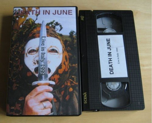 Death In June - Live In Italy 1999 Video (VHS)