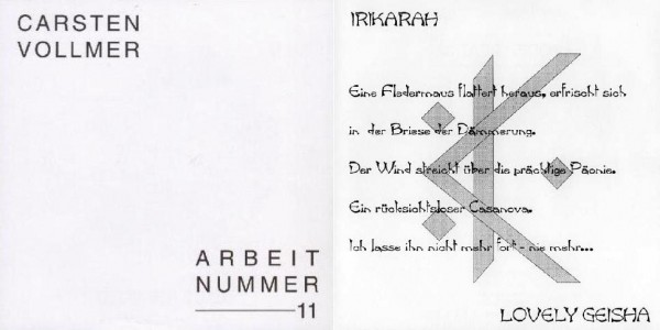 Irikarah / Carsten Vollmer - UNCENSORED Arbeit Nr.11 7 (Lim300)