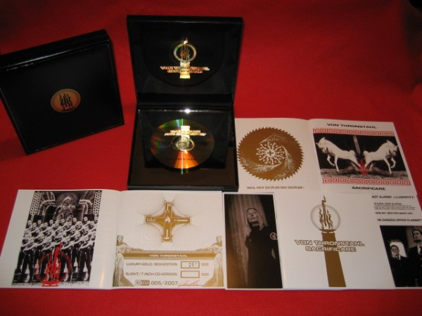 Von Thronstahl - Sacrificare CD GOLD-PLATE-BOX