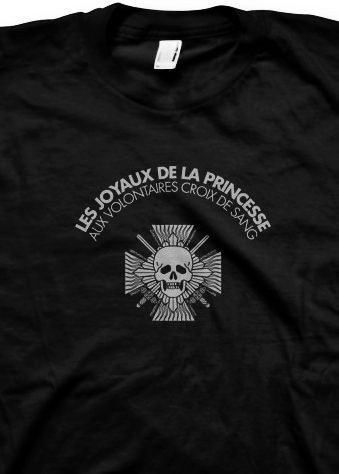 LES JOYAUX DE LA PRINCESS - Aux Volontaires Croix.. black SHIRT LJDLP
